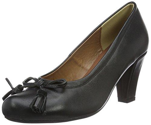 Andrea Conti zapatos de mujer Peeptoes Negro - Negro, 35 EU