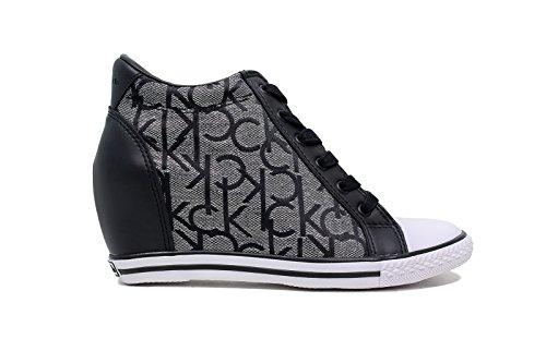 Basket, couleur Noir , marque CALVIN KLEIN, modèle Basket CALVIN KLEIN VERO JACQUARD Noir