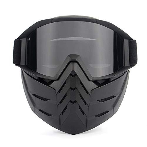 Adisaer Sportbrille Transparent Sandproof Brillen Motorradbrillen Off Road Brillen Lokomotive Maske Helm Reitbrille Ausrüstung Black Grey Damen Herren