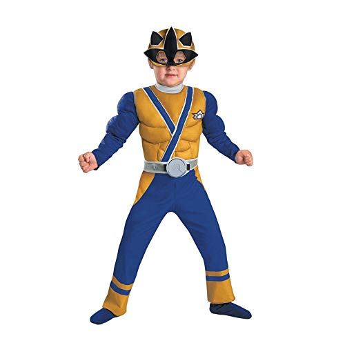 Power Rangers Gold Ranger Samurai Muscle Chest Costume Child Toddler Small 2T