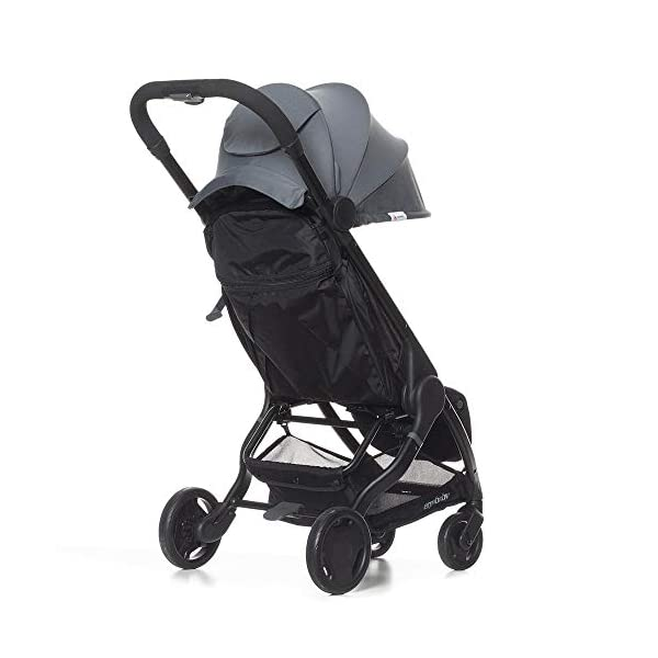ErgobabyMetro Lightweight Buggy Stroller Pushchair with Sun-Shade Canopy One Hand Foldable, 6Months to 18kg Toddler (Grey) Ergobaby A stroller that knows no limits. The ErgobabyMetro Strollers are ultra compact and fits effortlessly into small car boots and most aeroplane luggage compartments. An ideal baby and infant travel system. Baby comfort without compromise - soft, comfortable Stroller packed with plush, cushy padding that supports baby's head, back, bottom and legs . Advanced multi-zone support, and an adjustable footrest give your baby a comfortable seat. The gentle suspension and the shock absorbing PU tyres effortlessly tackle challenges such as kerbs, cobblestones and paving stones. Padded handle and strap. Storage tray for bags and shopping. 3