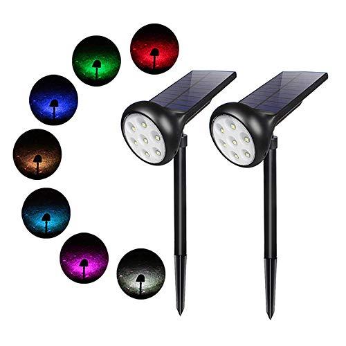 Luci Solari Esterno - 7 LED Colorate Lampada Solare IP65 Lmpermeabile Regolabile da Luminoso e Scuro Auto ON/OFF Usato per Giardino, Backyards, Prato, PareteEsterna e Paesaggio.