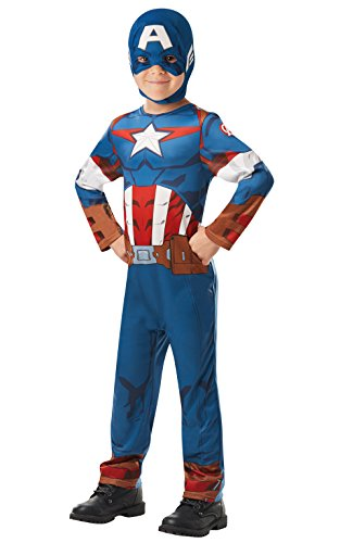 izielles Marvel Avengers Captain America Classic Kind costume-large Alter 7–8, Höhe 128 cm, Jungen, one size (Captain America Halloween Kostüme Kinder)