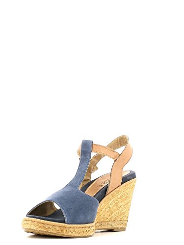 KEYS 5165 Sandalo zeppa Donna Blu