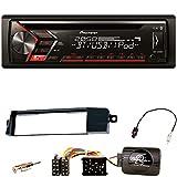 Pioneer DEH-S4000BT Autoradio USB AUX 1-DIN CD iPod MP3 Bluetooth WMA Einbauset für BMW 3er E46