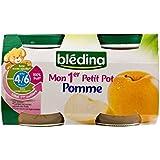 Blédina Mon 1Er Pomme Petit Pot (4/6 Mois) 2 X 130G - Paquet de 2