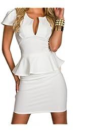 ca0906d86171 Ovender® Vestiti Eleganti Corti Mini da Donna Ragazza Abito Vestito Donne  Ragazze Impero Formale Elegante