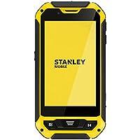 Stanley S231 Smartphone durci débloqué 3G/WiFi (Ecran : 4 Pouces Gorilla Glass - Double SIM - IP67 - Android) Jaune/Noir [pour Les Professionnels]