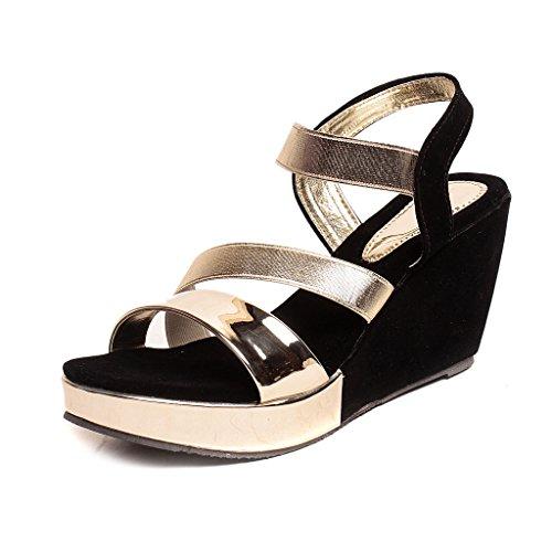 Feel-It-Comfortable-Leatherite-CasualFormalPartywear-Wedges-Footwear-for-Womens-Girls-542-GOLDEN-P
