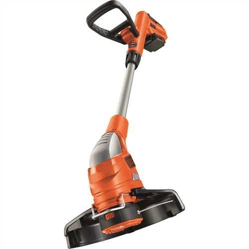 BLACK+DECKER GLC1823L20-QW Coupe-bordures sans fil - 2 vitesses - 1 batterie - Tube telescopique et 2nd poignée réglable, 18V, Orange/Noir, 23 cm