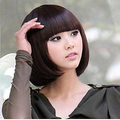 OOFAY JF® cabeza bob recta cosplay explosión recta del partido del traje corto pelucas llenas dama de la moda , blonde