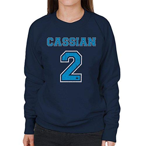 Star Wars Rogue One Cassian 2 Women's Sweatshirt Navy blue