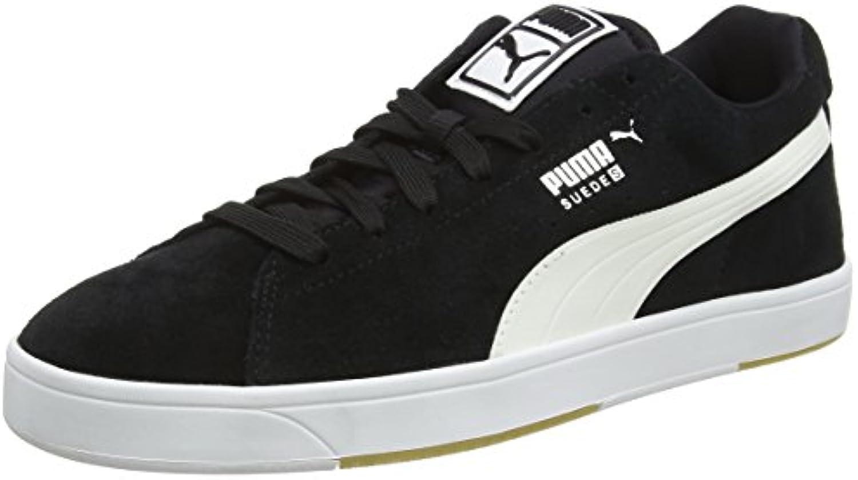 Puma Herren Suede S Turnschuhe  Schwarz (Black White 03)  44.5 EU (10 UK)