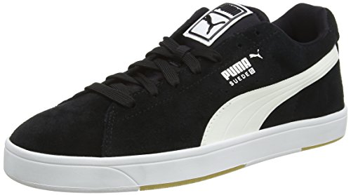 puma-suede-s-mens-low-top-trainers-black-black-white-9-uk