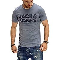 Jack & Jones Men's Jjecorp T-Shirt, Blue (China Blue), Large