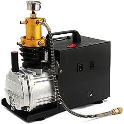 220V 1800W Pompe d'Air Haute Pression PCP Compresseur d'Air électrique 300 Bar 4500PSI 30MPA 50L/Min Approprié aux Automobile, bouteille de plongée, bouteille industrielle