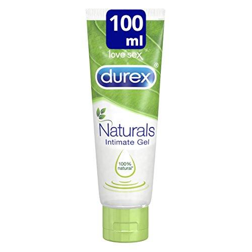 Durex Naturals Lubricante a Base de Agua, 100 % Natural Sin Fragancia, Colorantes ni Agentes Irritantes - 100 ml