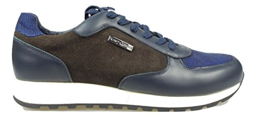 HENRY COTTONS BRON SNEAKERS UOMO [162.M.545 508 591] - 43, BLU/MARRONE