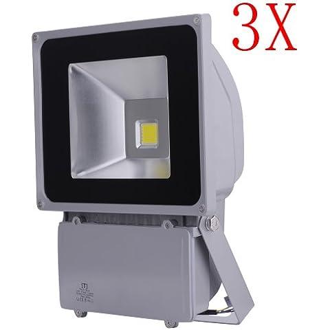 100W LED de luz de inundación impermeable del reflector del paisaje Iluminación de la lámpara 85-265V blanco frío