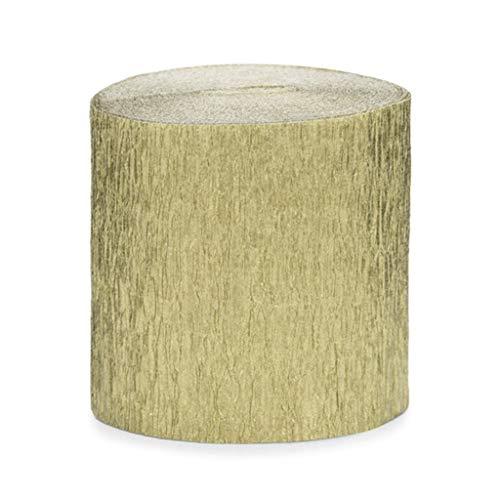 ück Rolle KREPP-Papier Rosen Gold aus 5 cm x 10 M jeder total 40 M ()