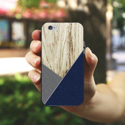 Apple iPhone X Silikon Hülle Case Schutzhülle Holz Modern Trend Silikon Case schwarz / weiß