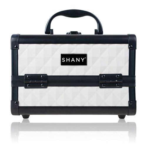SHANY Mini Makeup Train Case With Mirror - Peacefu by SHANY Cosmetics