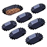 6pcs PP Plastic Serving Tray Platter Kitchen Bar Cafe Tray Coffee Tray-Black