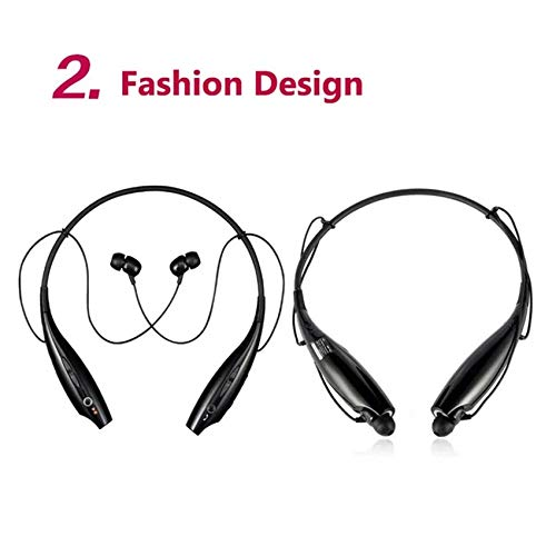 ROCKETKART Bluetooth Headphones for Redmi Note 7 Pro, Note 7S, Mi Y3, Redmi Note 7, Redmi Note 6 Pro, Mi A2, Poco F1, Redmi Note 5 Pro, Mi Mix 2, 6A, Mi Note 5 Pro Wireless Headset with Mic Earphone Image 5