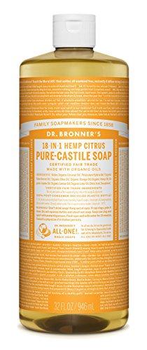 Dr. Bronner's Organic Pure Castile Liquid Soap, Citrus Oil, 32 oz by Dr. Bronner's