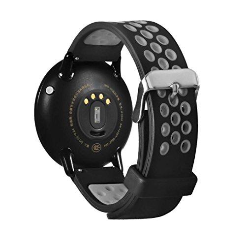 Correa de repuesto para reloj inteligente Xiaomi Huami Amazfit A1602, Y56, 21 cm, liviana, de silicona, gris