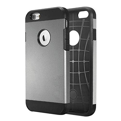 Mobiltelefonhülle - Hybrid PC + TPU Tough Rüstung Farbe Hard Case für das iPhone 6 ( Farbe : Grau ) Grau