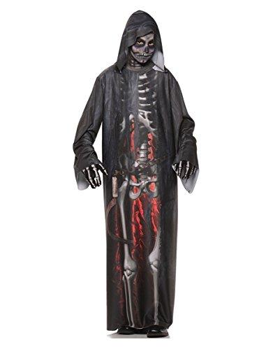 Skelett Robe Grim Reaper Kinderkostüm (Grim Make Up Reaper)