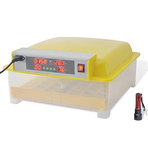 Inkubator Vollautomatische Brutmaschine,56 Eier Intelligentes digitales Brutmaschine Brutkasten mit LED Temperaturanzeige und Feuchtigkeitsregulierung 48 Eier