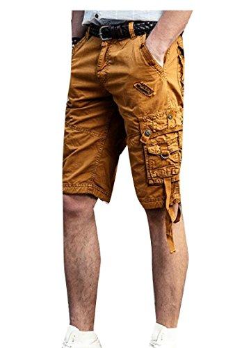 Gocgt Men Army Multiple Pockets High Waist Cotton Sport Pants Pant