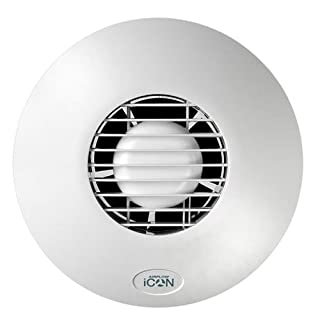Airflow iCON15 Circular Auto-Iris Extractor Fan with Humidistat Module 72591501 + 72687103 with FREE LED Wind Up Torch