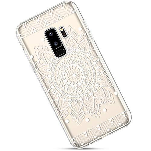 Funda Compatible con Samsung Galaxy S9 Plus Carcasa,Funda Galaxy S9 Plus Transparente Silicona,Moda Pintado Patrón Colorido Cubierta Suave Anti-Arañazos Ultra Delgado TPU Case.Flor