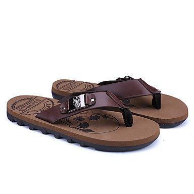 Slippers & amp da uomo;Estate con laccio dietro al Comfort PU all'aperto casual piani del tallone con borchie scarpe d'acqua sandali US10 / EU43 / UK9 / CN44