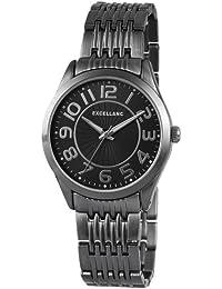 Excellanc 151071000006 - Reloj analógico de cuarzo para mujer, correa de diversos materiales color negro