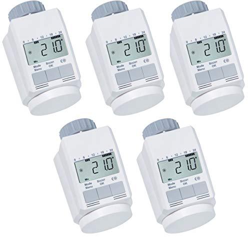 Ensemble de 5 thermostats de radiateur classique \