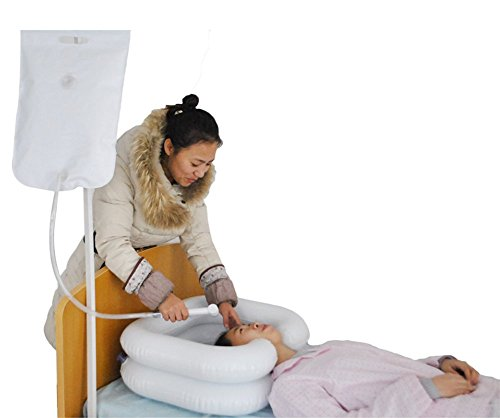 Easy Shampoo Basin, Deluxe Inflatable Shampoo Basin Para Personas De Movilidad Reducida, Blanco,A
