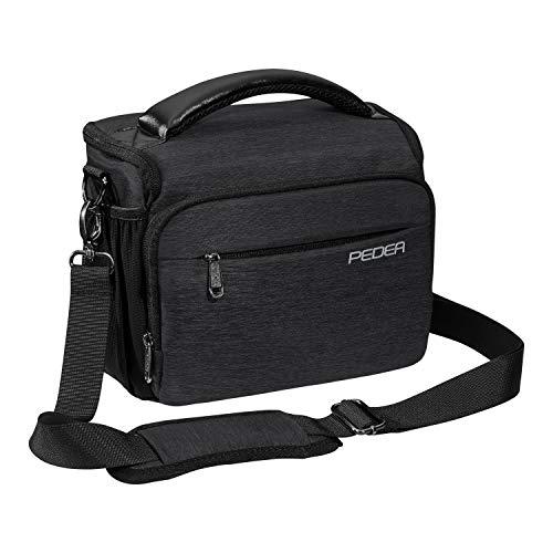 """PEDEA DSLR-Kameratasche \""""Noble\"""" Fototasche für Spiegelreflexkameras mit wasserdichtem Regenschutz, Tragegurt und Zubehörfächern, Gr. XL anthrazit"""