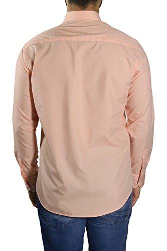 MUGA Homme Chemise à manches longues, légèrement cintrée Abricot