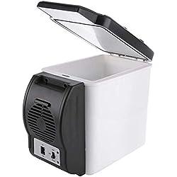 Mini Congelateur En Acier Inoxydable GlaciÈRe ÉLectrique Portable Cooler Et Chauffage Mini RÉFrigÉRateur De Voiture À Double Usage,Au Bureau Ou Camping Volume De 6L Classement Energitique A++ Adobe ab