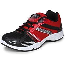 Columbus Men Black Red Sports Shoes (8 UK)