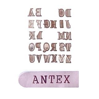 Antex R8Q0L030 Alphabet Pyrography Stamps