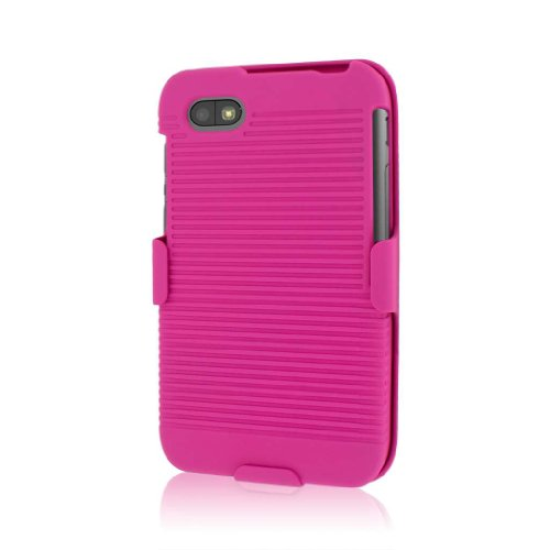 MPERO Sammlung 3 in 1 Tough Hot Pink Rosa Kickstand Case Tasche Hülle for BlackBerry Q5