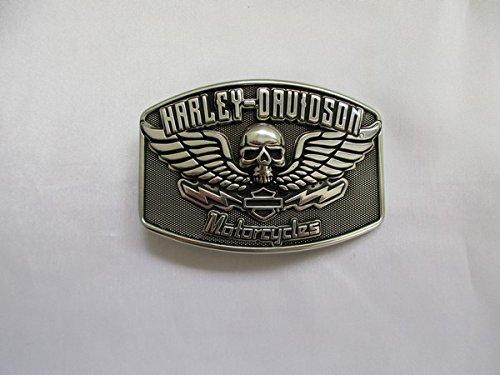 Artikel wird am nächsten Tag versand!Harley Davidson Gürtelschnalle 9 x 6 cm Rückseite mit Stempel (Harley Gürtelschnallen)