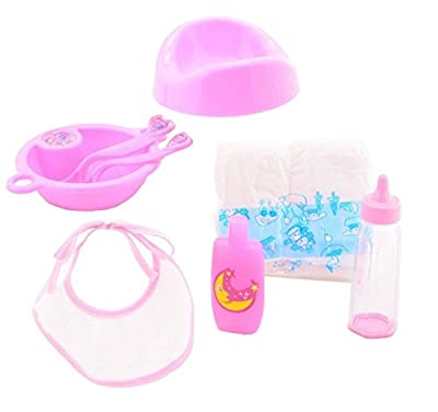 Baby Doll Accessories Sets Dolls Feeding Girls Toy Nappy Set