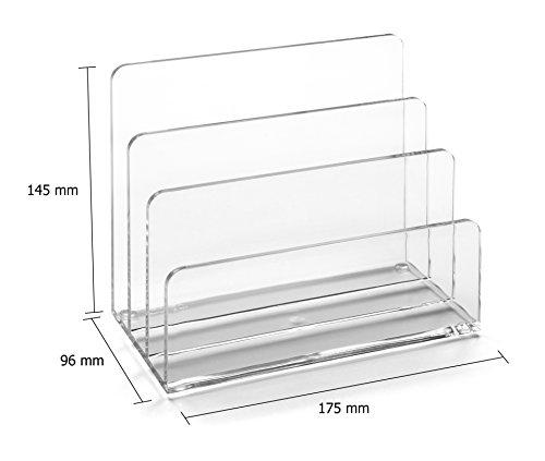 Osco ALH-1 Briefhalter aus klarem Acryl - 4