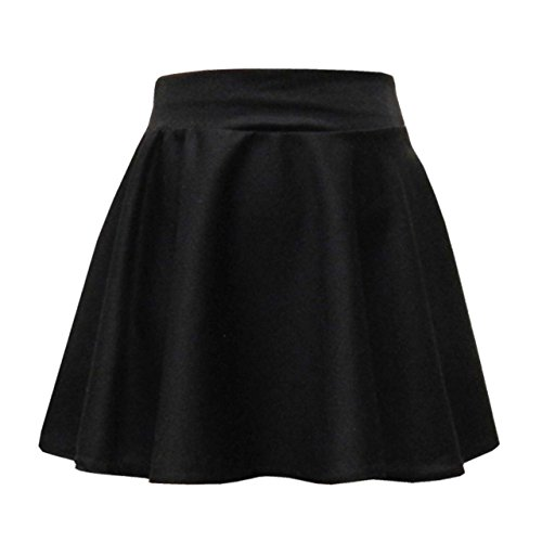 Lyallpur Fashions Skater Skirt Skirts Girls Kids Casual Party and School Wear Black Colour 7 to 13 Years (9-10 Years)